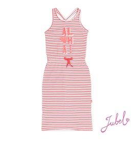 Jubel Lange jurk z/m streep La isla Koraal