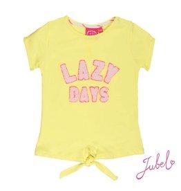 Jubel T-shirt k/m lazy days La Isla Geel