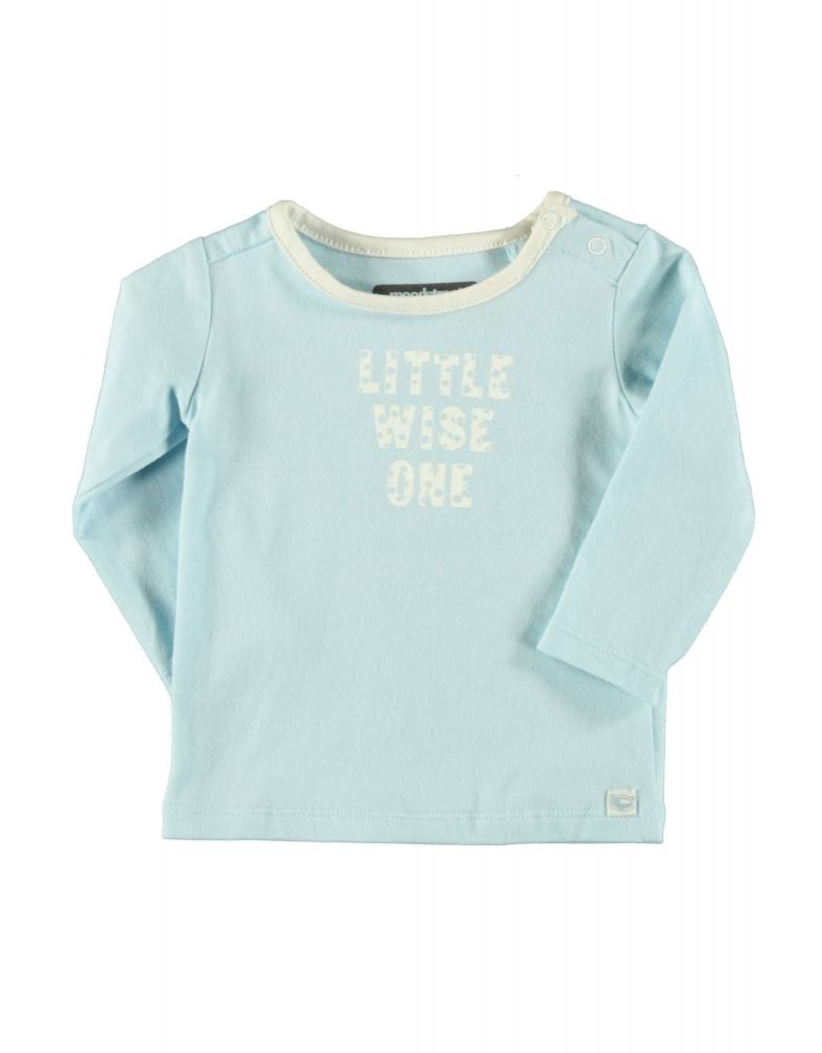 Moodstreet Longsleeve little wise one 125 light blue 68