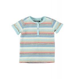 Moodstreet T-shirt buttons closure 902 multi