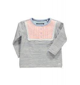 Moodstreet T-shirt chest details 828 pale jeans