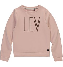 Levv Sweater logo old Pink