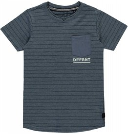 Levv T-shirt Indigo Blue Stripe