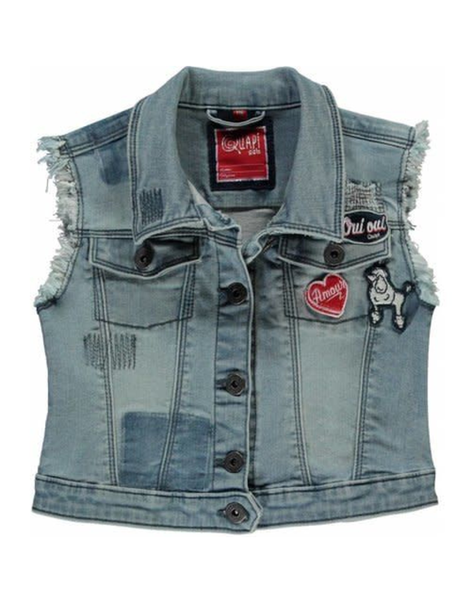 Quapi Gilet light denim
