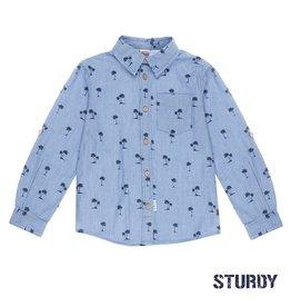 Sturdy Overhemd denim AOP Indigo