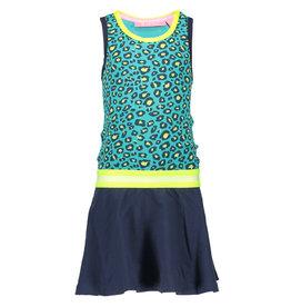 B-nosy B-nosy Jurk elastic waistband 958 turquoise maat 86/92