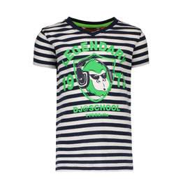 Tygo & vito T-shirt striped MONKEY navy 190