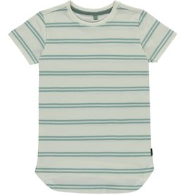 Levv T-shirt Dusty Green Stripe