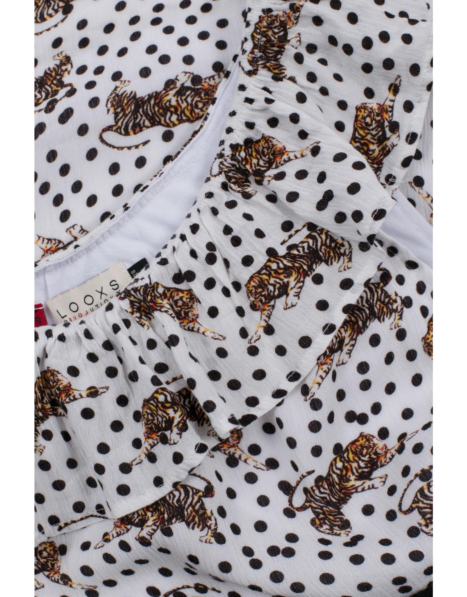 Looxs Jurk printed crinkle 292 tiger