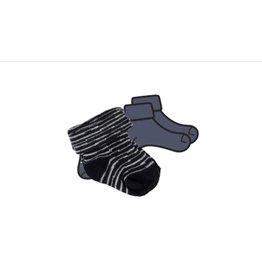 BESS Bess sokken pinstripe blue 0-3 NOS