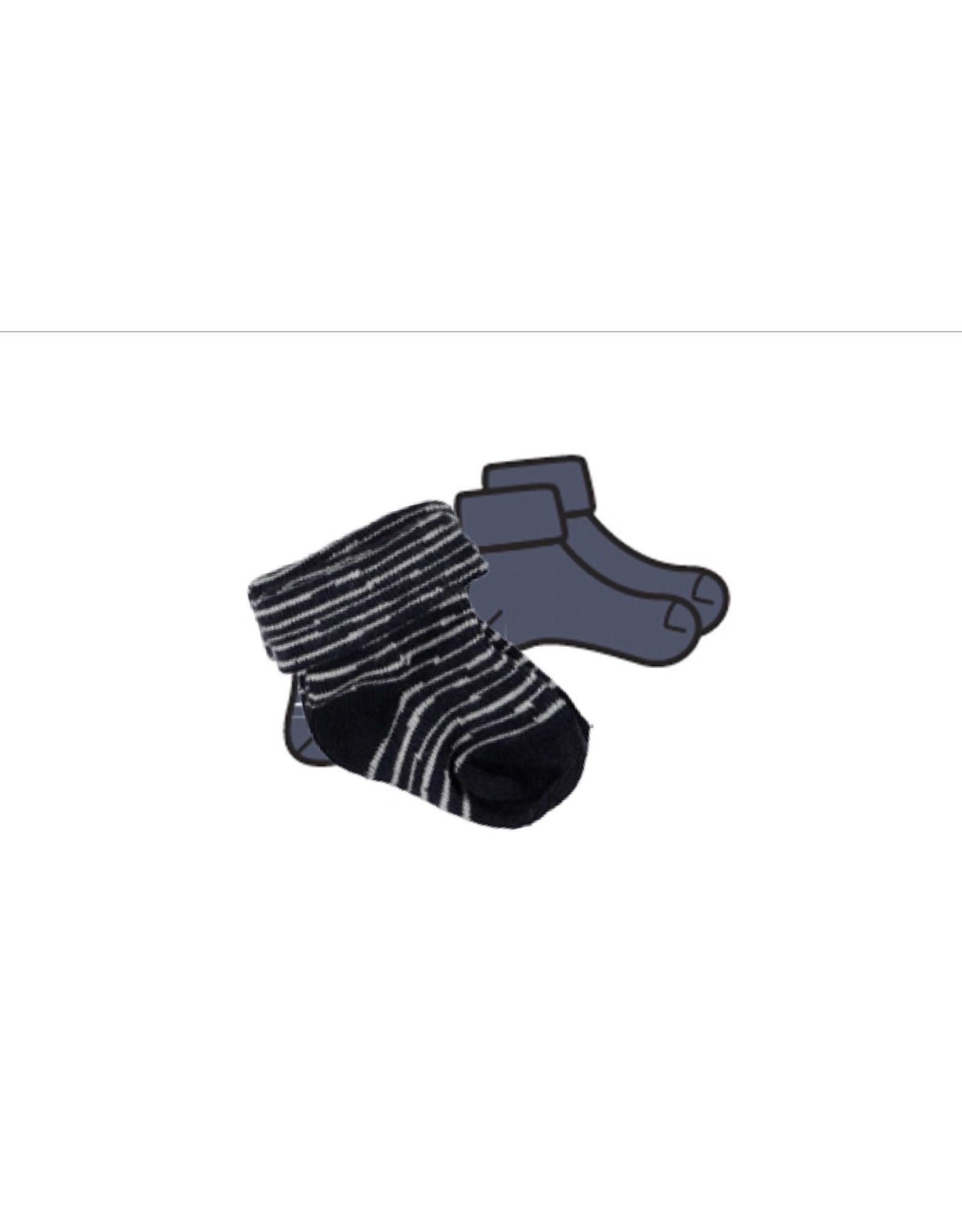 BESS Bess sokken pinstripe blue NOS