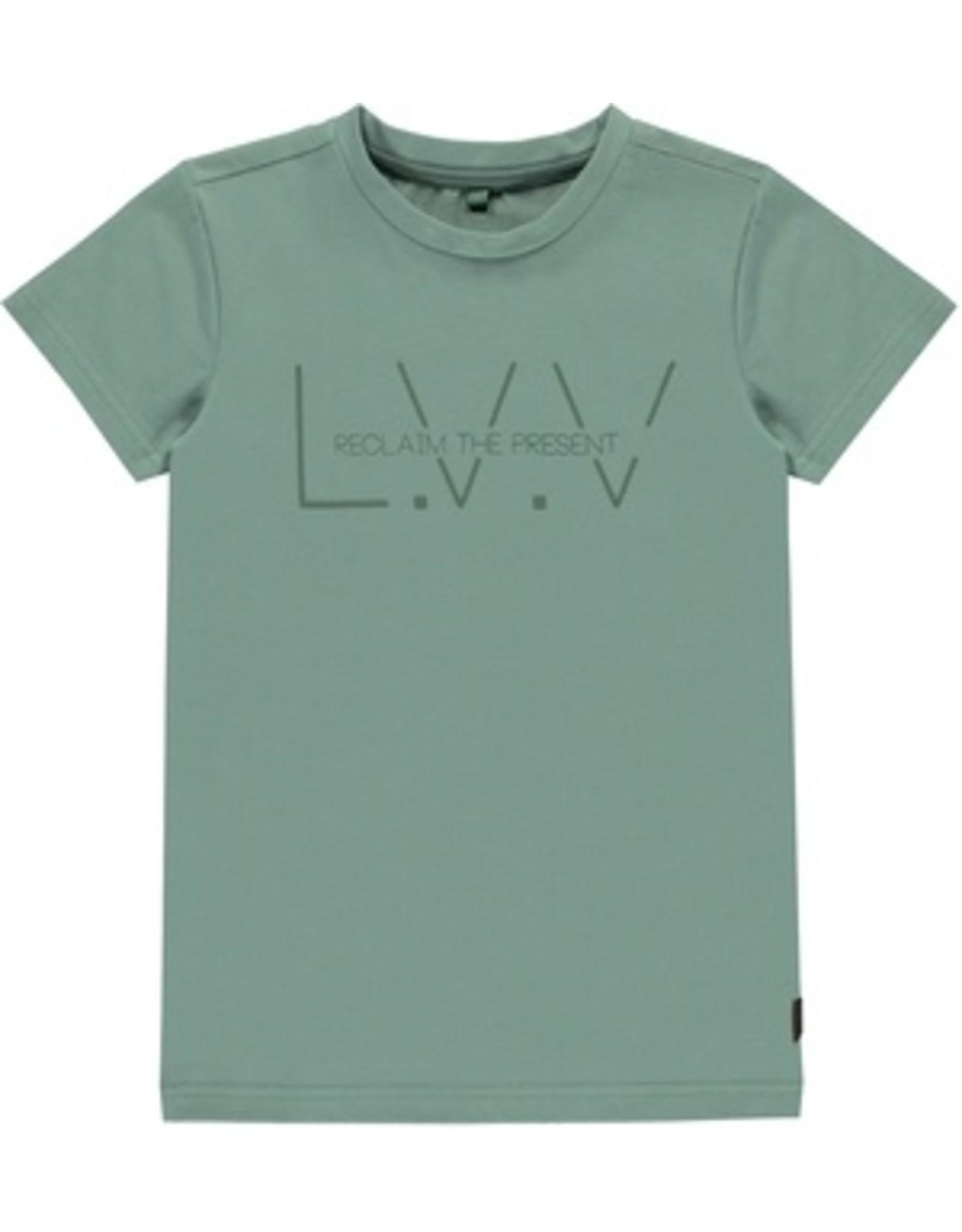 Levv T-shirt logo dusty Green