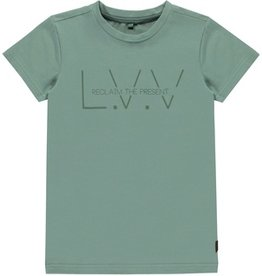 Levv T-shirt logo dusty Green