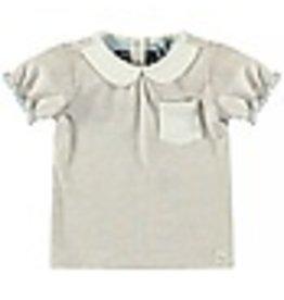 Moodstreet T-shirt collar 402 beige