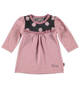 BESS Dress Striped Pinstripe Pink