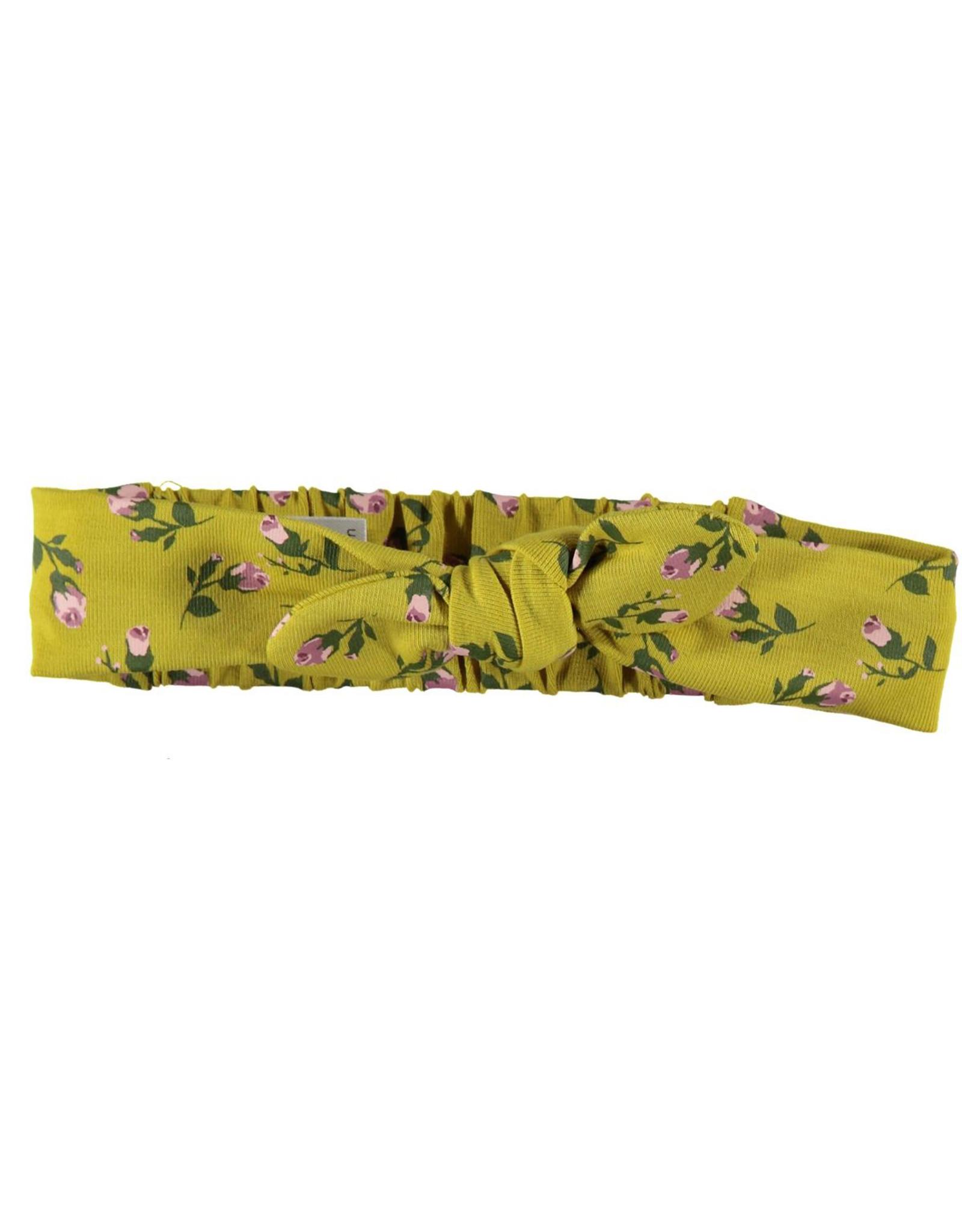 BESS Headband Romantic Flowers Ocre