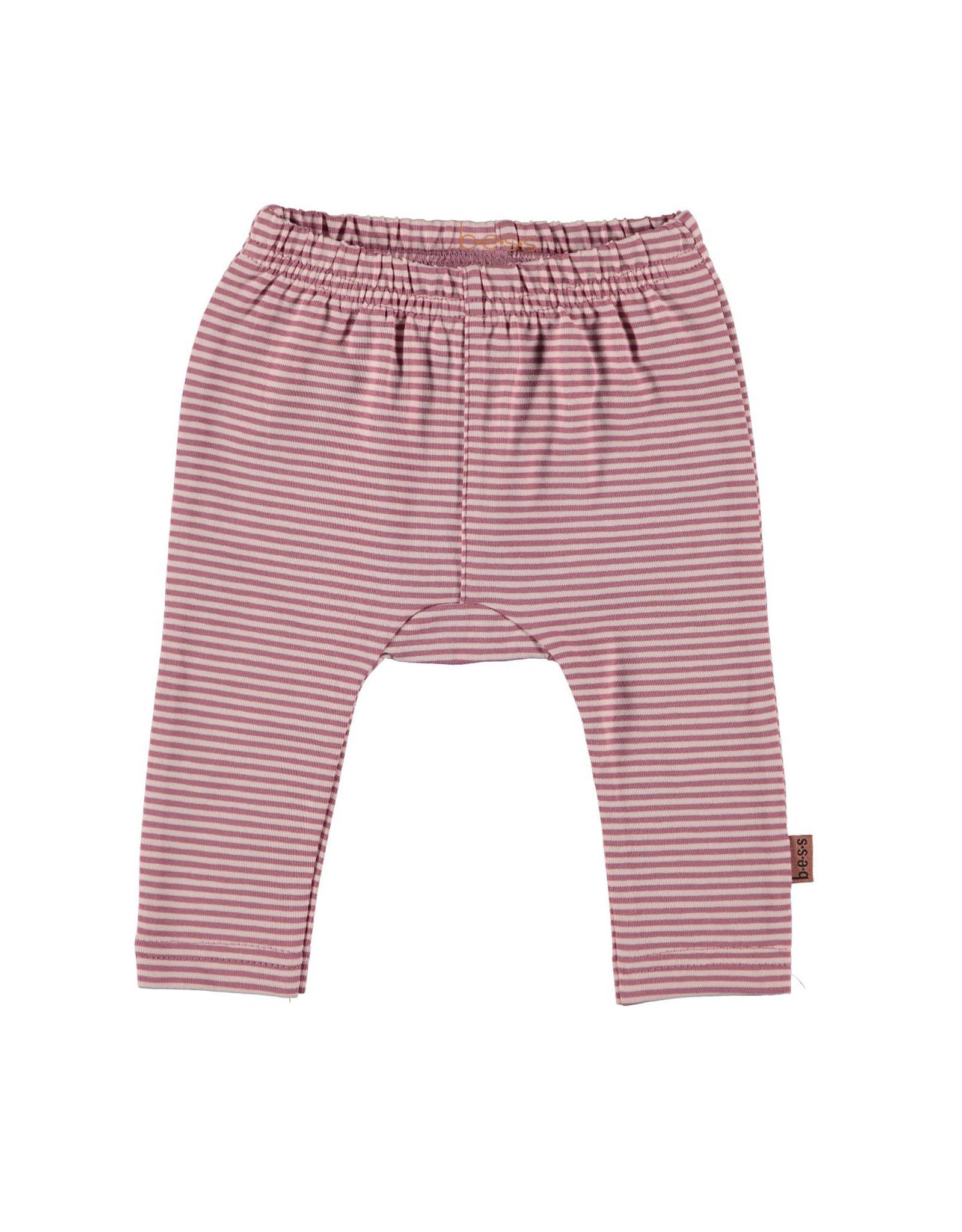 BESS Legging Striped Pinstripe Pink