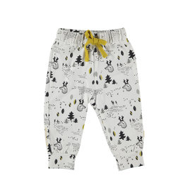 BESS Pants AOP Forest White