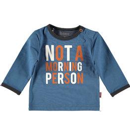 BESS Shirt l.sl. Not a Morning Person Blue