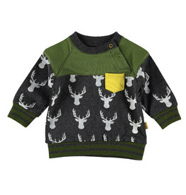 BESS Sweater AOP Deer Antracite