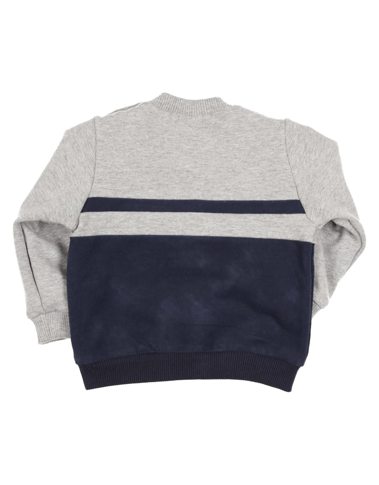 Gymp Carbonchine Sweater stripe - Grijs/Marine