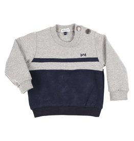 Gymp Carbonchine Sweater stripe - Grijs/Marine