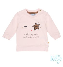Feetje Sweater I Close My Eyes - Sparkle Roze