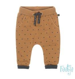 Feetje Broek AOP - Lucky star Camel