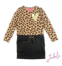 Jubel Jurk AOP - Leopard Lipstick Khaki