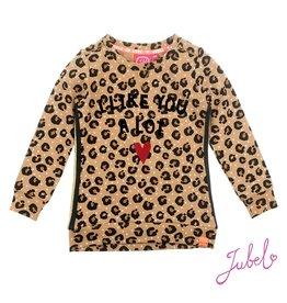 Jubel Sweater AOP - Leopard Lipstick Khaki