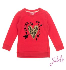 Jubel Sweater Crush On You - Leopard Lipstick Rood