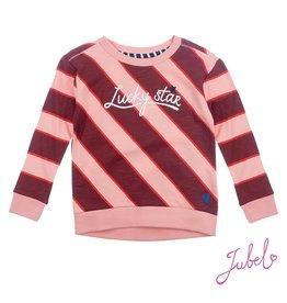 Jubel Sweater streep - Lucky Star Roze