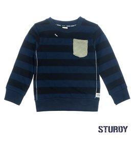Sturdy Sweater streep - Tuning Vibes Marine