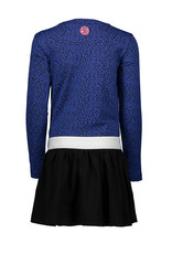 B-nosy Jurk with pleated jersey skirt 181 Panther blue
