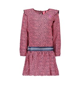 B-nosy Jurk with ruffle at sleeve, zipper on back 281 Pink panther