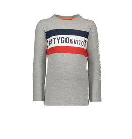 Tygo & vito T-shirt LS cut & sewn #TYGO&vito GAME OVER 705 D.grey melee