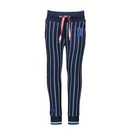 B-nosy Broek with rib on hem, full elasticated waistband 161 Stripe inkt blue