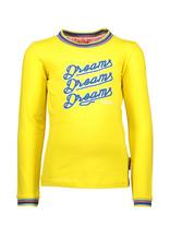 B-nosy Longsleeve print/embroidery, rib neck/cuff 508 Corn Yellow