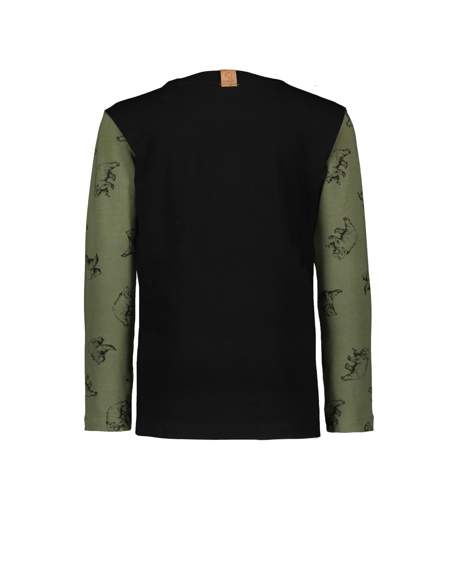 B-nosy Longsleeve cut and sew contrast AO 378 Bear leaf green