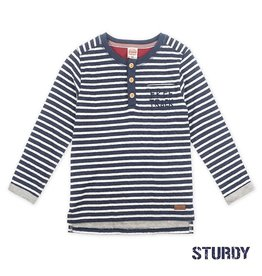 Sturdy Sweater streep - Good Fellows Marine