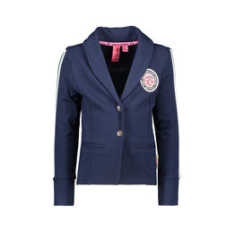 B-nosy Blazer with fancy tape on sleeve 109 Inkt blue