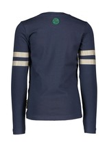 B-nosy Longsleeve with sequinces on sleeve 109 Inkt blue