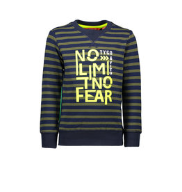 Tygo & vito Sweater stripe NO LIMIT NO FEAR 365 D.army