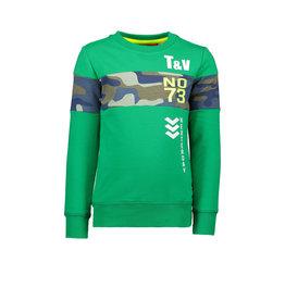 Tygo & vito Sweater TV No.73 AOP insert 360 Green