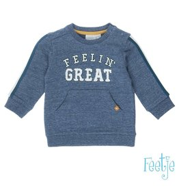 Feetje Sweater Feelin' Great - Boy Squad Indigo melee