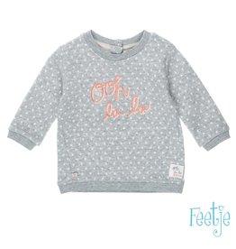 Feetje Sweater - Oh La Lama Grijs melee