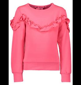 B-nosy Sweater with ruffle detail 280 Shocking pink