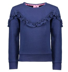B-nosy Sweater with ruffle detail 146 Space blue