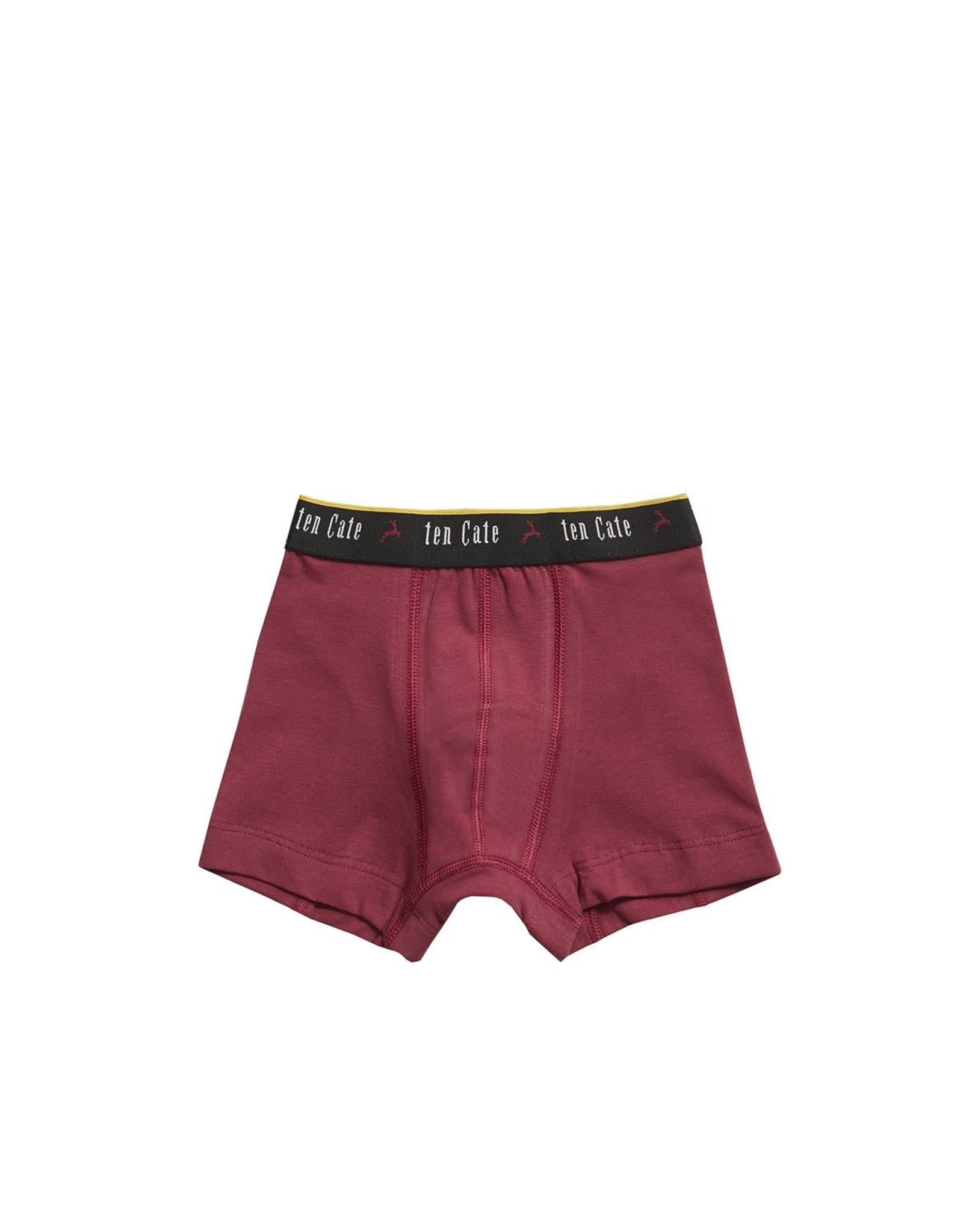 Ten Cate Basic Boys Shorts Sloths green aan brick red 2pc