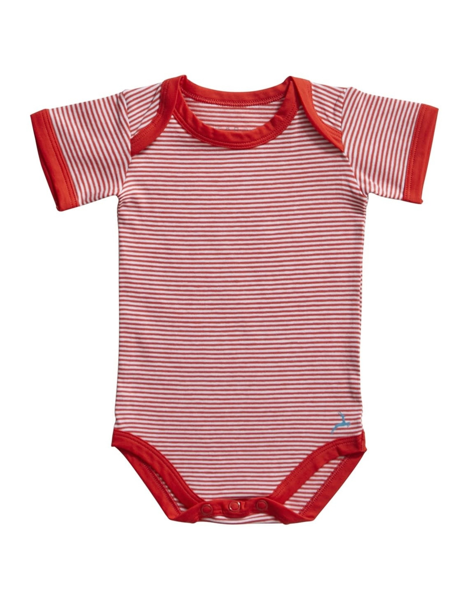 Ten Cate Basic romper 2 pack stripe and flame scarlet